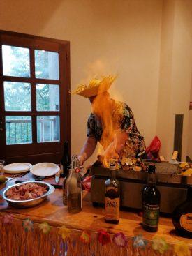Mardi gras : démonstration et dégustation : cuisine flambée